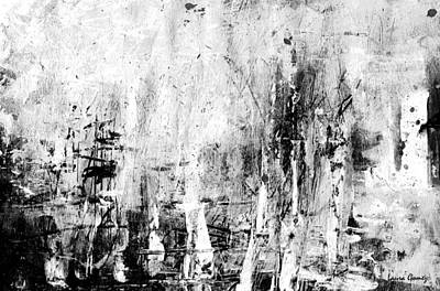 Negro Drawing - Old Memories Abstract By Laura Gomez -horizontal Size by Laura  Gomez