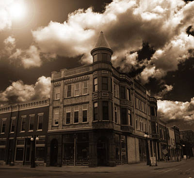 Old Menominee Corner Store Building Art Print
