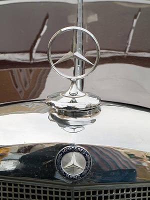 Old Mercedes Logos Art Print by Odon Czintos