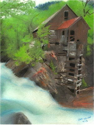 Pastel - Old Mill by John Brisson