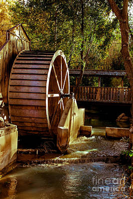Old Mill Park Wheel Art Print