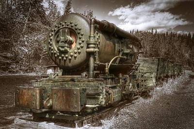 Old Mine Train Banff Art Print
