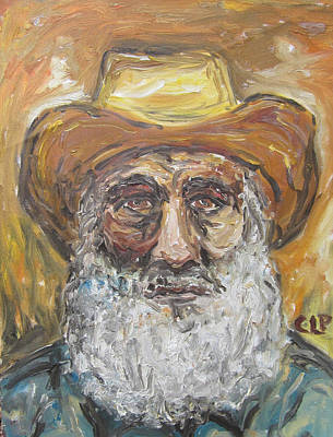 Old Miner From Victor Colorado Art Print