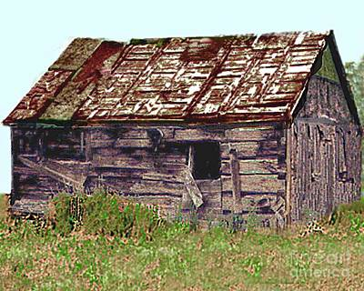 Photograph - Old Miners Cabin   Leadville Colorado by Merton Allen