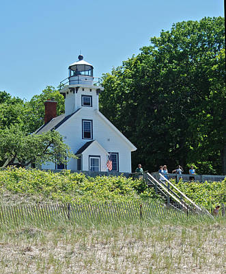 Old Mission Point Lighthouse 5306 Print by Michael Peychich