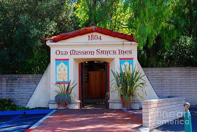 Old Mission Santa Ines Solvang California Art Print by Susanne Van Hulst