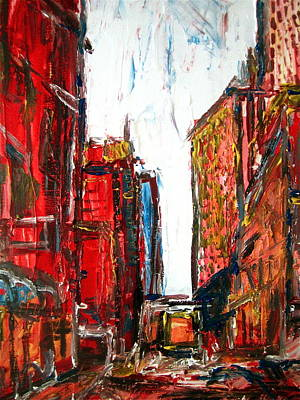 Vieux Port Painting - Old Montreal by Adamo  Tiseo