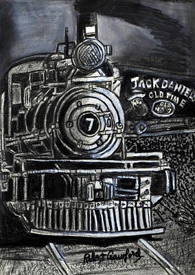 Night Scenes Drawing - Old Number Seven by Bob Crawford