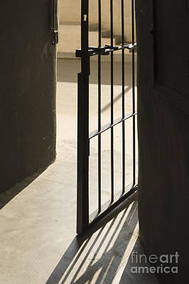 Dungeon Photograph - Old Open Jail Cell Door by Noam Armonn