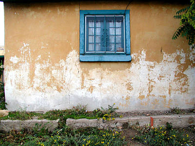 Photograph - Old Paint Old Wall New Mexico by Kathleen Grace