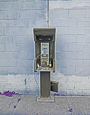 Old Pay Phone In New Orleans Art Print
