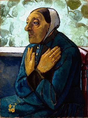 Old Peasant Woman Print by Paula Modersohn-Becker
