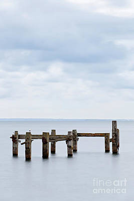 Swanage Pier Photograph - Old Pier At Swanage Before Sunrise. by Richard Thomas