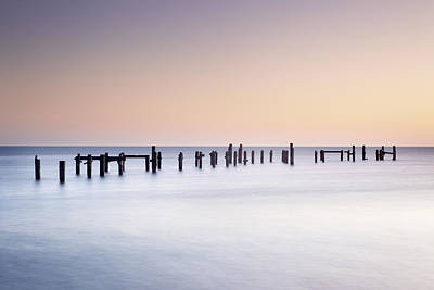 Swanage Pier Photograph - Old Pier Posts, Swanage, Dorset by James Ross