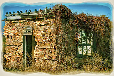 Digital Art - Old Pioneer Homestead Mid 1800s by Gary Baird