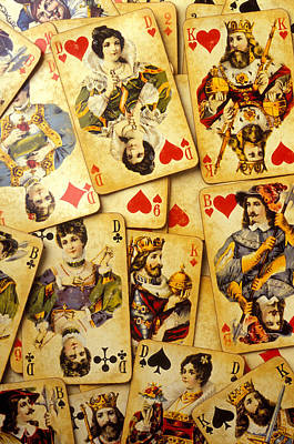 Old Playing Cards Art Print by Garry Gay
