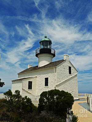 Old Point Loma Lighthouse Art Print by Methune Hively