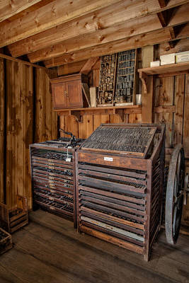 Photograph - Old Print Shop by Susan Candelario