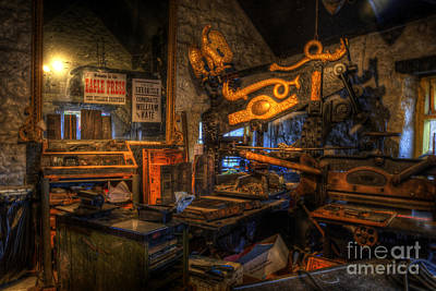 Photograph - Old Printing Press by Yhun Suarez
