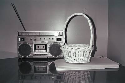 Old Radio And Easter Basket Art Print by Floyd Smith