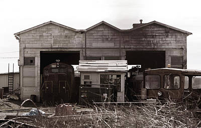 Photograph - Old Rail Barn by Lorraine Devon Wilke