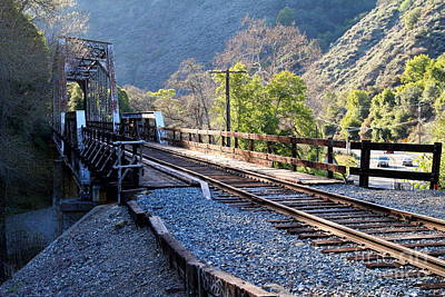 Old Railroad Bridge At Near Historic Niles District In California . 7d12743 Art Print