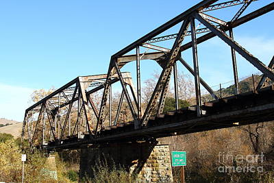Old Railroad Bridge At Union City Limits Near Historic Niles District In California . 7d10736 Art Print by Wingsdomain Art and Photography