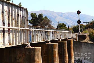Old Railroad Bridge In Fremont California Near Historic Niles District In California . 7d12669 Art Print