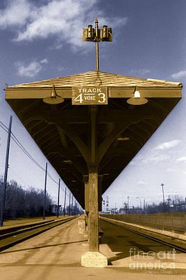 Colourized Photograph - Old Railway Platform by Gordon Wood