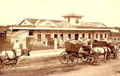 Horse Photograph - Old Railway Station Nineteenth Century by Mario Perez