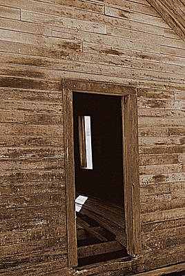 Photograph - Old Ranch Hand Cabin Entry by Kathy Sampson