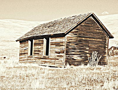 Photograph - Old Ranch Hand Cabin L by Kathy Sampson