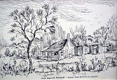 Old Ranch House Art Print by Bill Joseph  Markowski