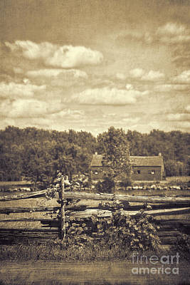 Photograph - Old Red Barn In Rural Countryside by Sandra Cunningham
