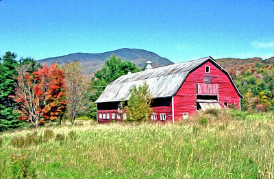 Photograph - Old Red Barn In Vermont by James Steele
