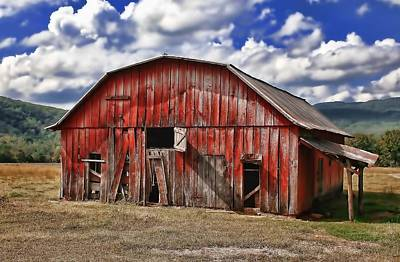 Art Print featuring the photograph Old Red Barn by Renee Hardison