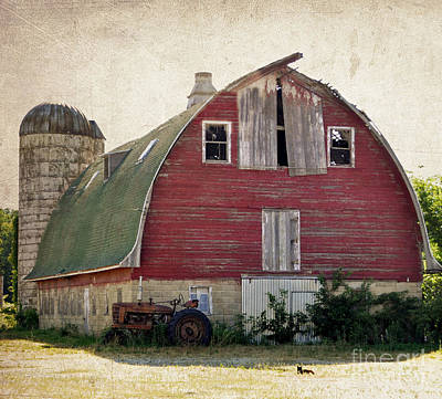 Old Red Barn Art Print by Tamera James