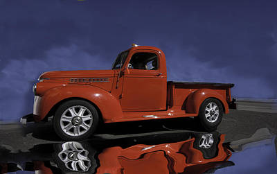 Art Print featuring the photograph Old Red Truck by Judy Deist