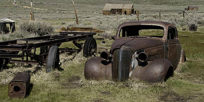 Old Rusted Car Art Print by Richard Balison