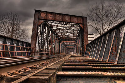 Old Rusty Bridge Art Print by Darren Landis