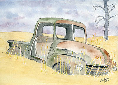 Old Rusty Truck Art Print