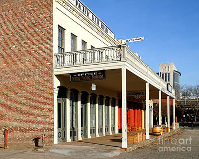 Old Sacramento California . Central Pacific Railroad Office Building . 7d11699 Art Print