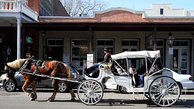 Old Sacramento California . Horse Drawn Buggy . Long Cut . 7d11482 Art Print