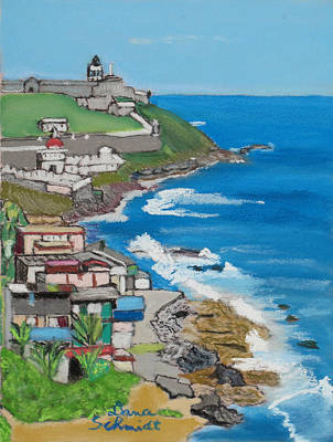 Old San Juan Seacoast In Puerto Rico Art Print