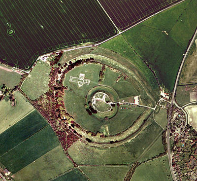 Old Sarum Art Print by Getmapping Plc