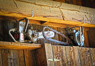 Photograph - Old Saws by Steve McKinzie