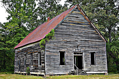 Photograph - Old School Alabama by Amanda Vouglas