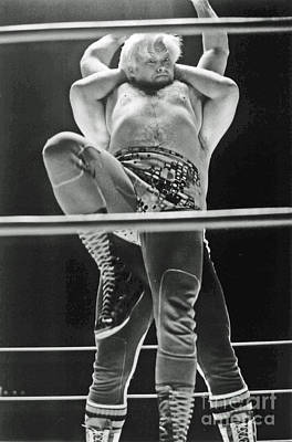 Photograph - Old School Wrestling At The Cow Palace  by Jim Fitzpatrick