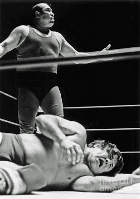 Photograph - Old School Wrestling From The Cow Palace  by Jim Fitzpatrick