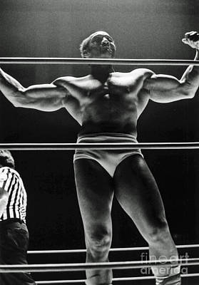 Photograph - Old School Wrestling From The Cow Palace With Earl Maynard by Jim Fitzpatrick